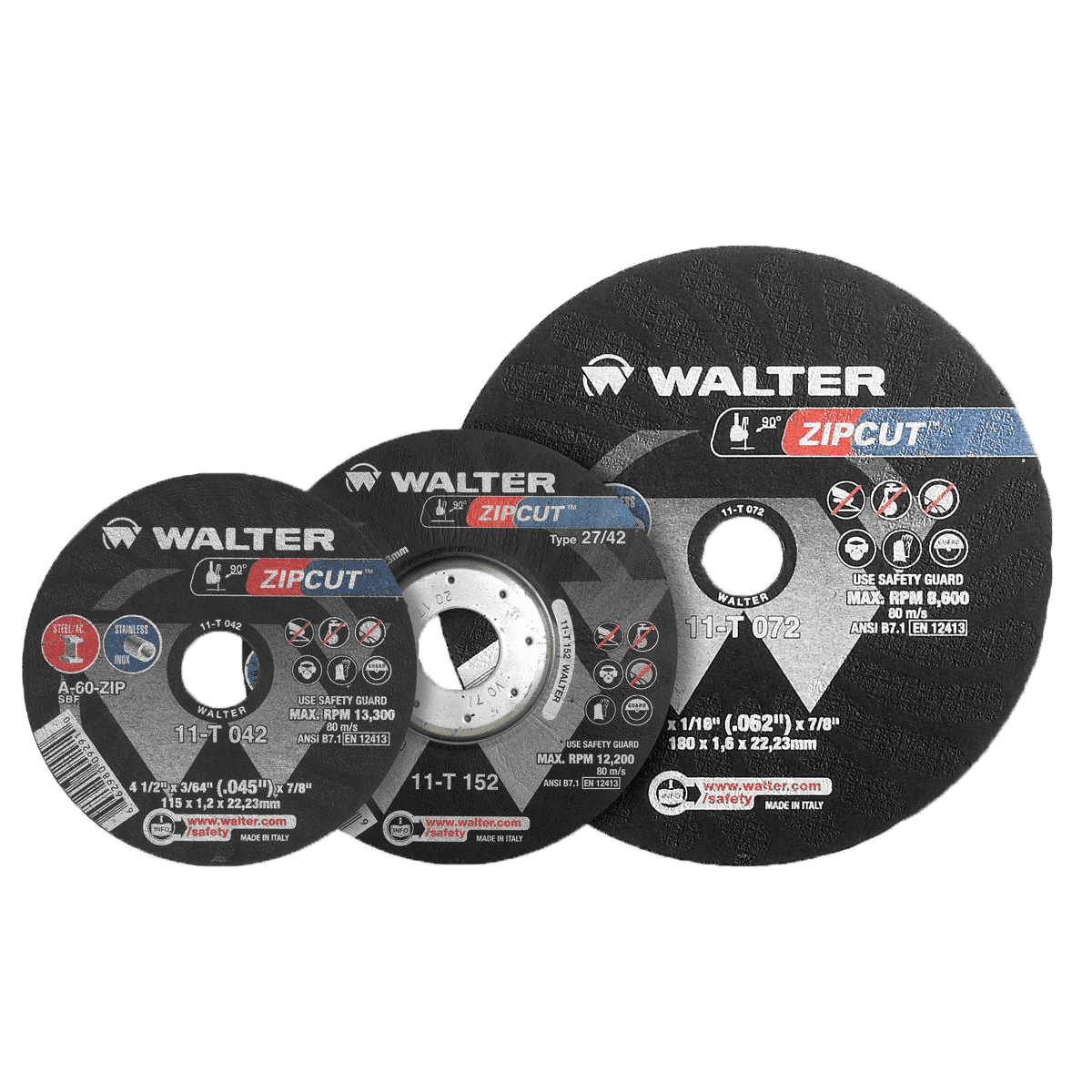 Walter ZIPCUT™ Cut-off Wheels