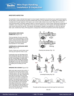 Open PDF of the Wire Rope - Handling, Installation and Inspection resource