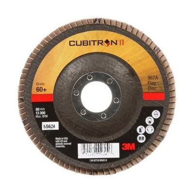"Picture of 3M Cubitron II 4-1/2"" x 7/8"" Type 29 Flap Discs"