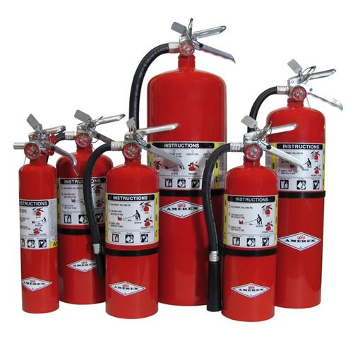 Picture of Amerex ABC Fire Extinguishers with Wall Bracket