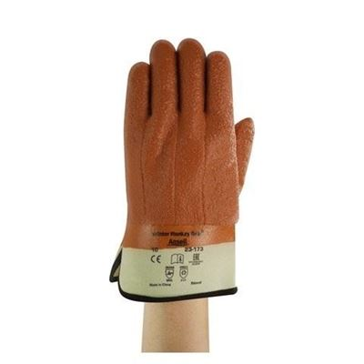 Picture of Ansell 23-173 Winter Monkey Grip® Textured PVC Coated Gloves - Size 10