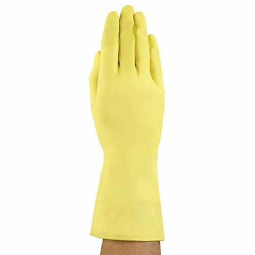 Picture of Ansell G12Y Yellow Latex Gloves