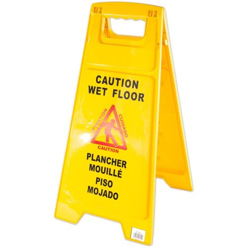 Picture of AGF Trilingual Caution Wet Floor Sign