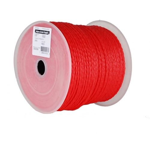 Picture of BBH Red Poly Hollow Braid Rope