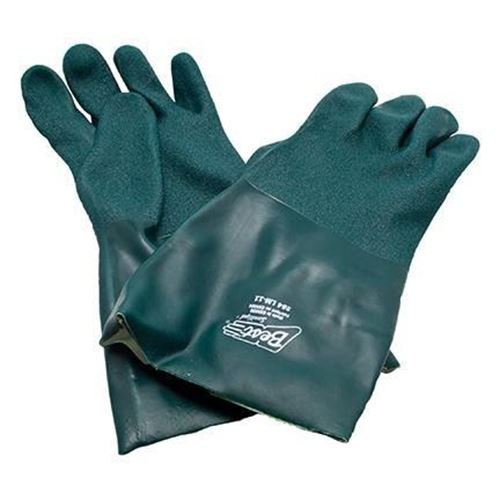 "Picture of Showa Best Green 14"" PVC Rough Tough Glove - X-Large"