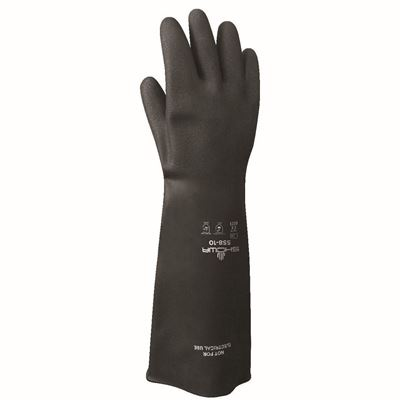 Picture of Showa Best Natural Rubber HD 558 Chemical Resistant Latex Glove - X-Large