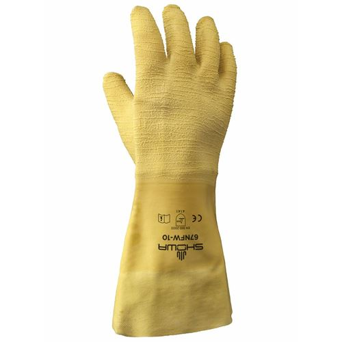 """Picture of Showa Best Nitty Gritty® 14"""" Fully Coated Rubber Gloves"""