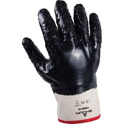Picture of Showa Best Nitri-Pro 7166R Nitrile Fully Coated Glove - Large