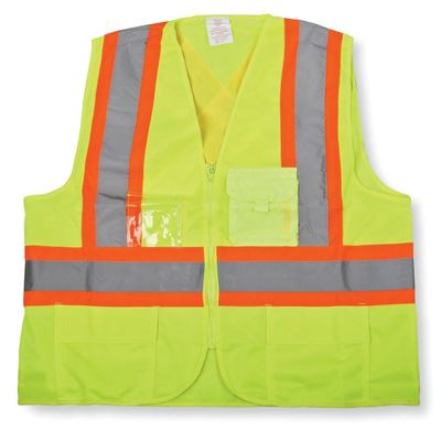 Picture of Big K BK204 Green Sized Polyester Zipper Safety Vests