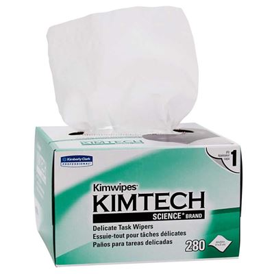 Picture of Kimberly-Clark Kimwipes White Delicate Task Wipers