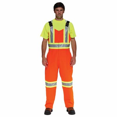Picture of Ground Force® Style 851GF Orange Standard Insulated Polycotton Overall with Reflective Tape