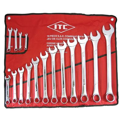 Picture of ITC® S.A.E Combination Wrench Set - 16 Piece