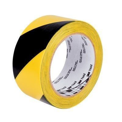 "Picture of 3M Black/Yellow Aisle Marking Tape - 2"" x 36 Yards"