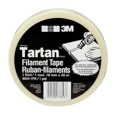 Picture of 3M Tartan™ Clear Filament Tape - 18mm x 55M