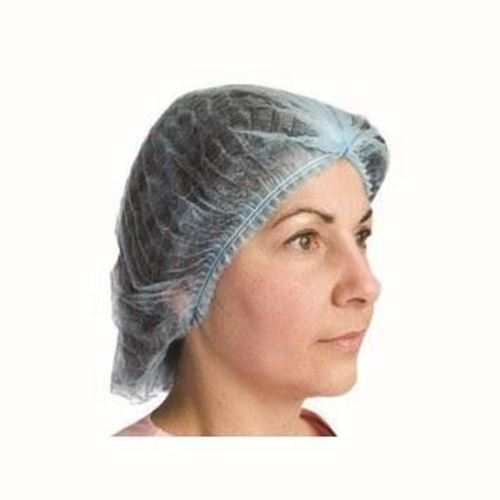 Picture of Blue Pleated Poly Cap - Size 21""
