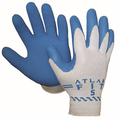 Picture of Showa Best Atlas 300 Grey String Knit Natural Rubber Coated Glove