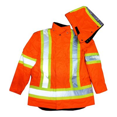 Picture of Stalworth Style 299 Orange Premium Waterproof Insulated Hydro Parka with Reflective Tape