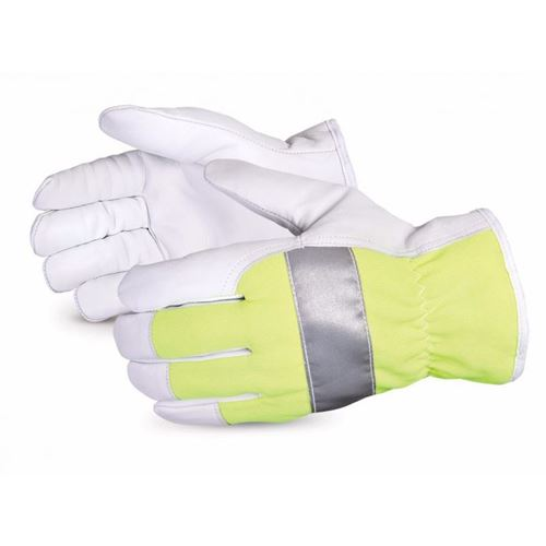 Picture of Superior Glove Endura® Thinsulate™-Lined Hi-Viz Goat-Grain Driver Gloves