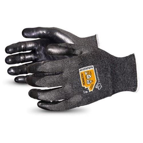 Picture of Superior Glove TenActiv™ Cut-Resistant 18-Gauge Composite Knit Gloves with Black Foam Nitrile Palms