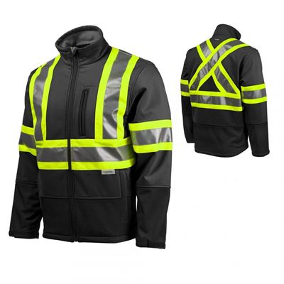 Picture of TERRA Black Hi-Viz Softshell Jacket with Reflective Tape