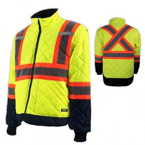 Picture of TERRA Hi-Vis Lined Yellow Freezer Jacket