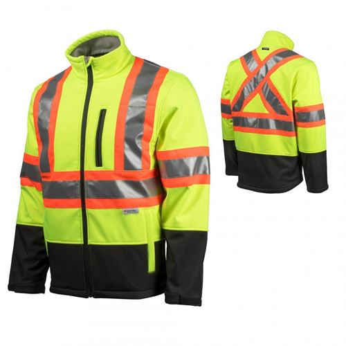 Picture of TERRA Yellow Hi-Viz Softshell Jacket with Reflective Tape