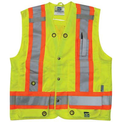 Picture of Viking® 6165 Series Lime Green Open Road® Surveyor Vest