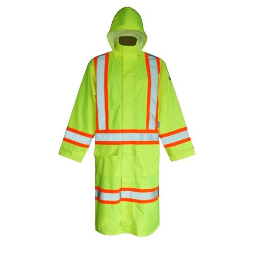 Picture of Viking® 6326 Series Hi-Viz Lime Safety Long Coat