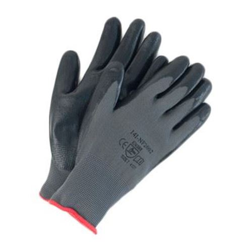 Picture of Wayne Safety Black Foam Nitrile Palm-Coated Gloves
