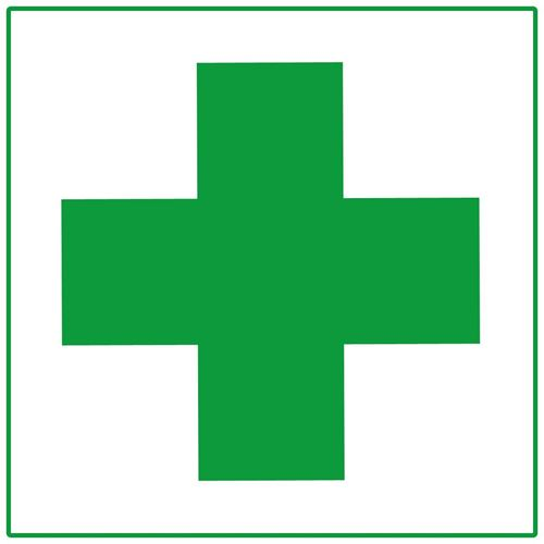 "Picture of First Aid Cross Decal - 2"" x 2"""